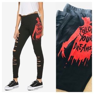 A Nightmare on Elm Street Slashed Leggings 0X XL